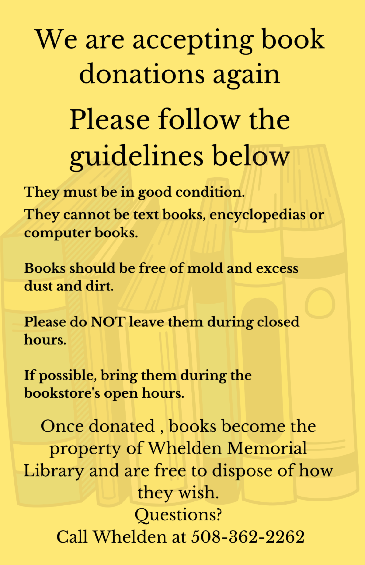 We are accepting book donations However.png