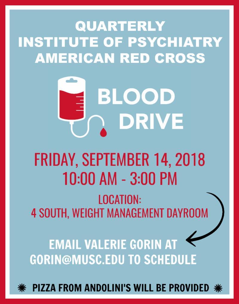 MUSC Psychiatry Chair Update | August 16, 2018