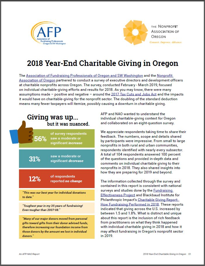 Charitable Giving Report Cover Photo
