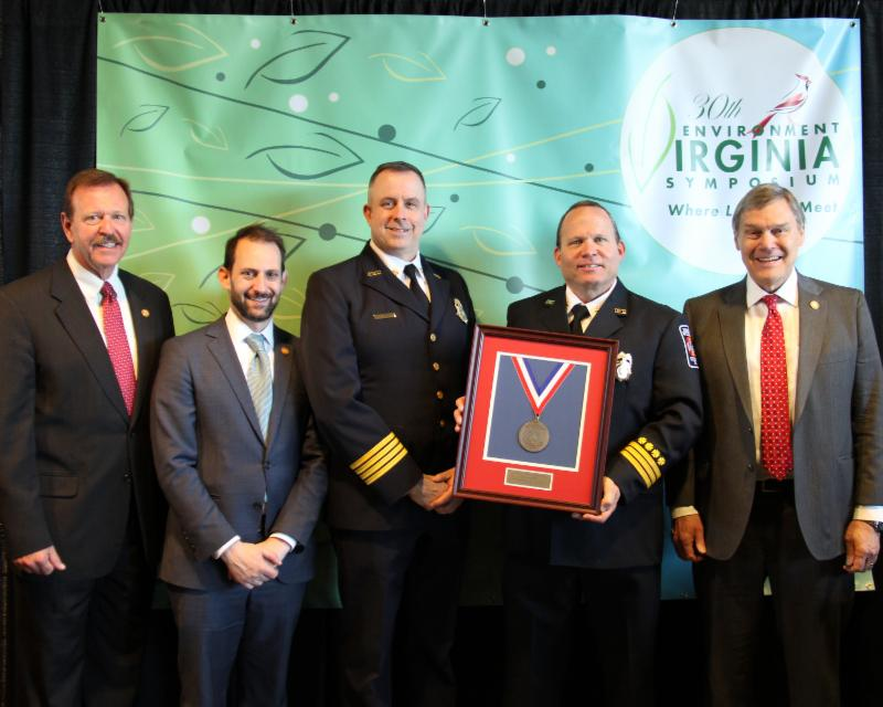 Prince William County Fire _ Rescue receiving their Governor_s Environmental Excellence Award