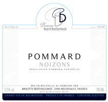 Berthelemot Pommard Noizons label