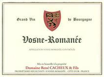 Cacheux Rene Vosne label