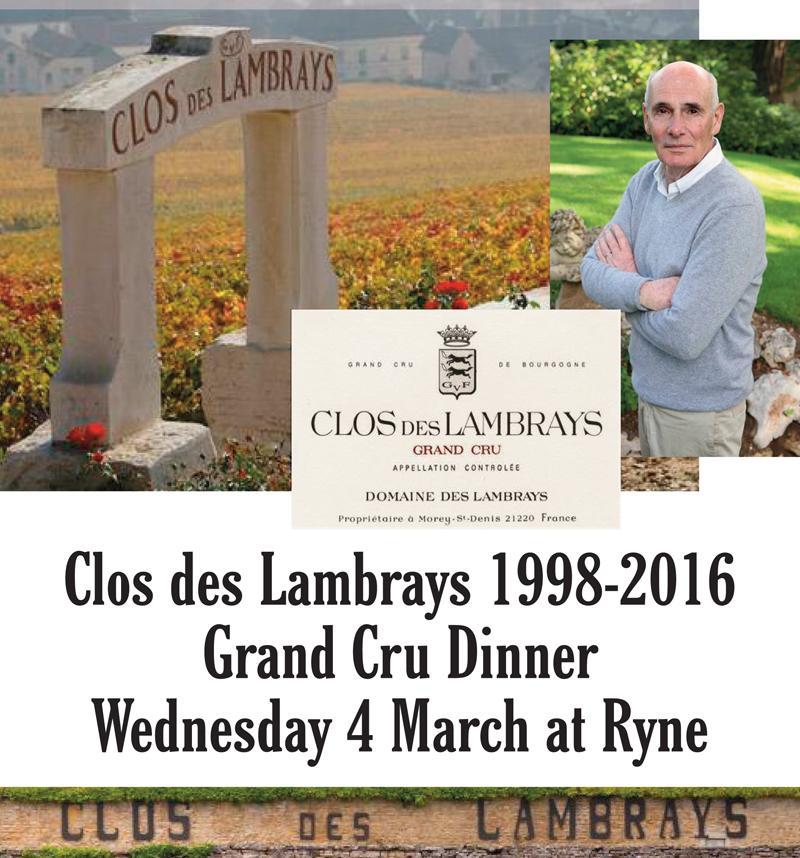 Lambrays Dinner header