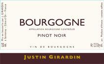 Girardin Bourgogne Pinot label 96