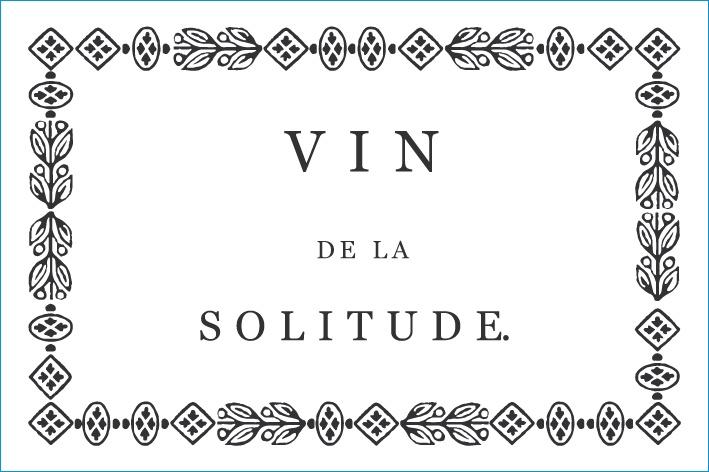Solitude vine de la Solitude label