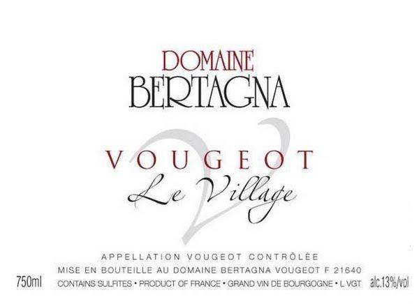 Bertagna Vougeot Village label