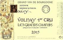 Bouley Grand Champs 2015 Label