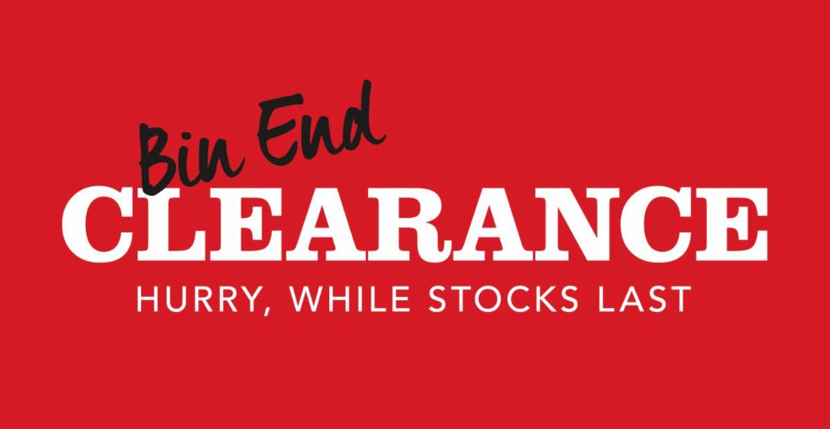 Bin End Clearance