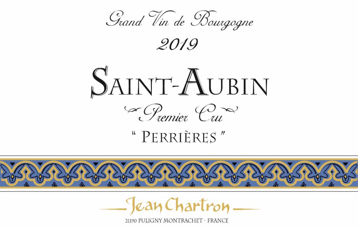 Chartron St-Aubin Perrieres 2019 label