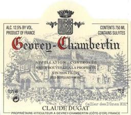 Dugat Claude Gevrey label