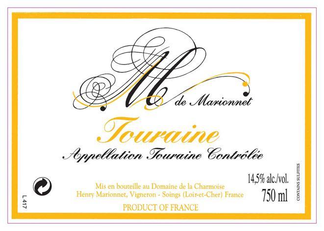 Marionnet Touraine label 300
