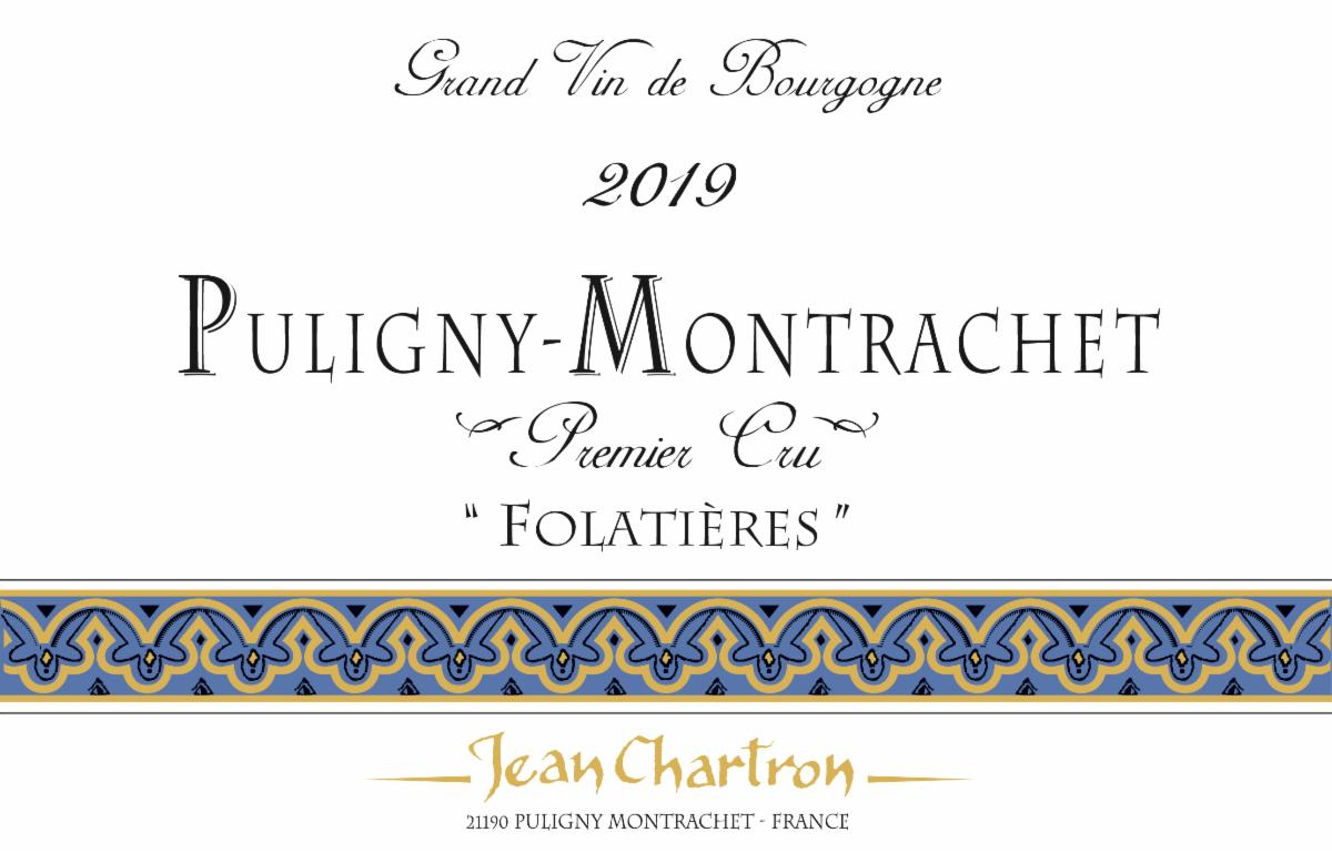 Chartron Puligny Folatieres 2019 label