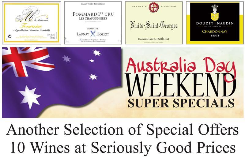 10 Wines Australia Day