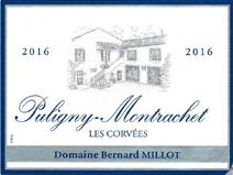 Millot Puligny Corvees 2016 label