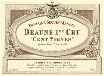 Seguin-manuel Beaune Cent Vignes label