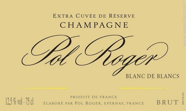 Pol Roger Blanc de Blancs label higher