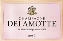 Delamotte rose label