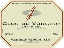 Grivot Vougeot label