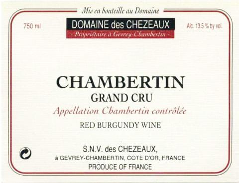 Domaine des Chezeaux Chambertin label