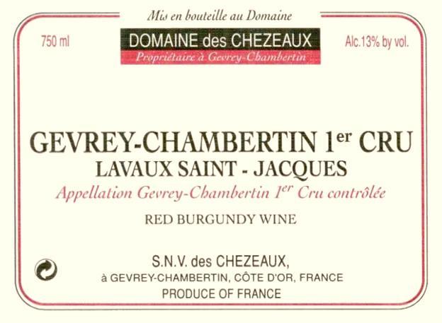 Chezeaux Berthaut Lavaux label