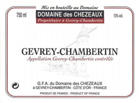 Chezeaux Berthaut Gevrey label