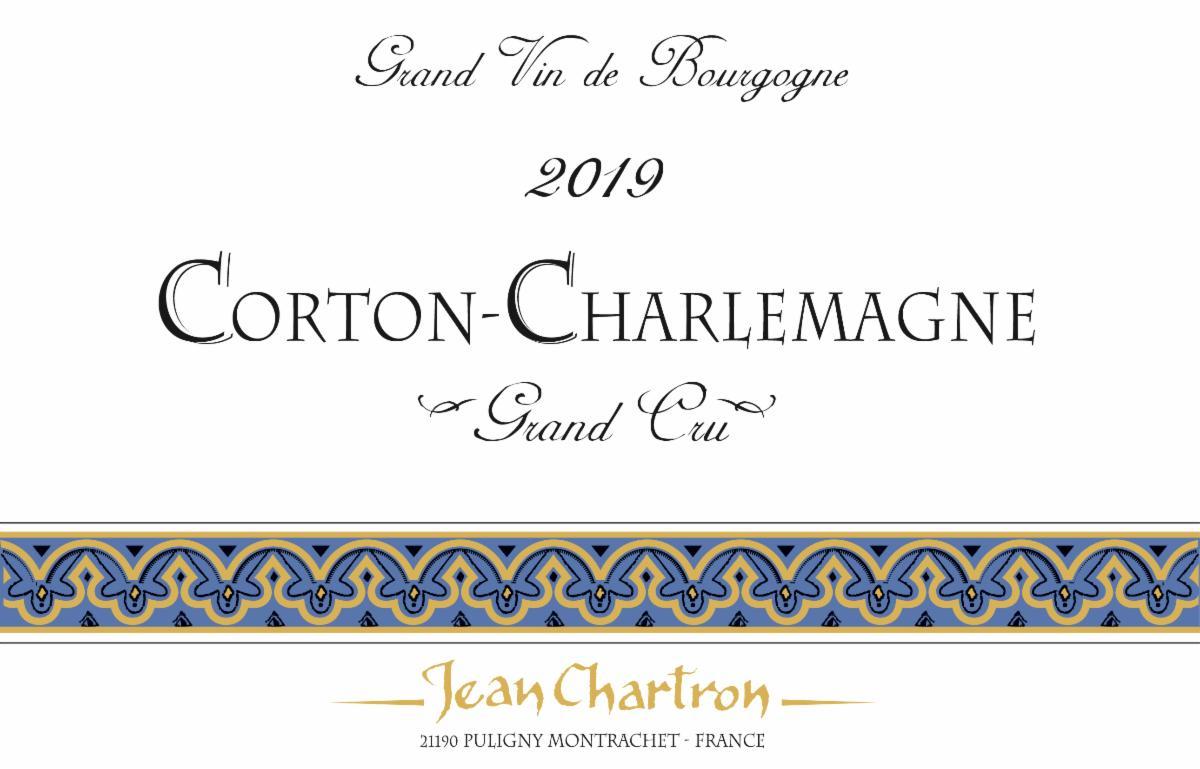 Chartron Corton-Charlemagne 2019 label