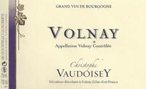 Vaudoisey Volnay label