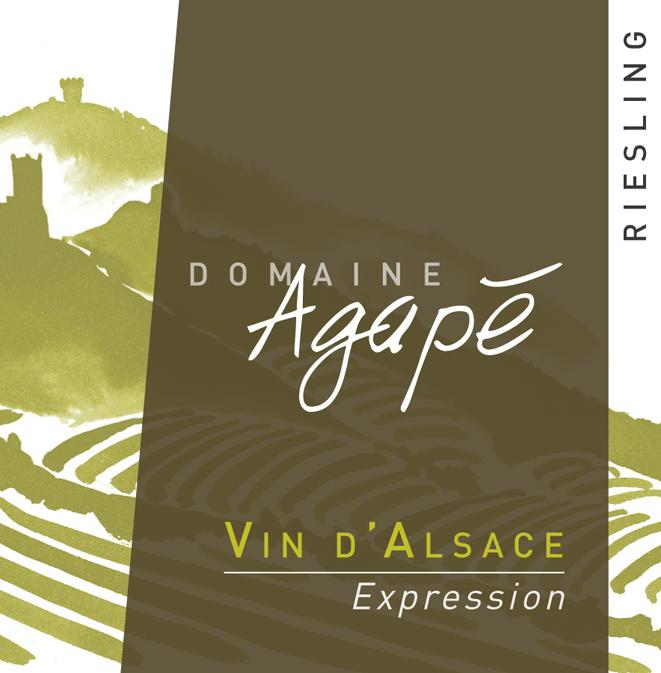 Agape Riesling Expression label