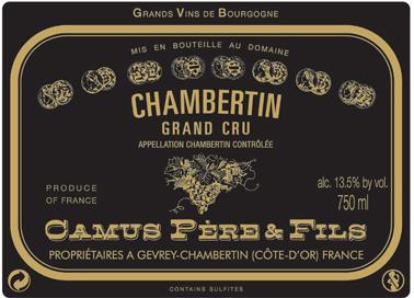 Camus Chambertin label