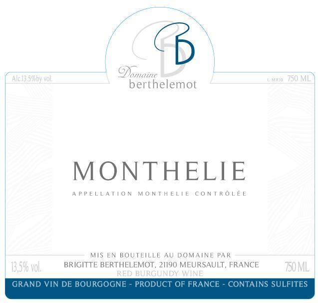 Bertelemot Monthelie label