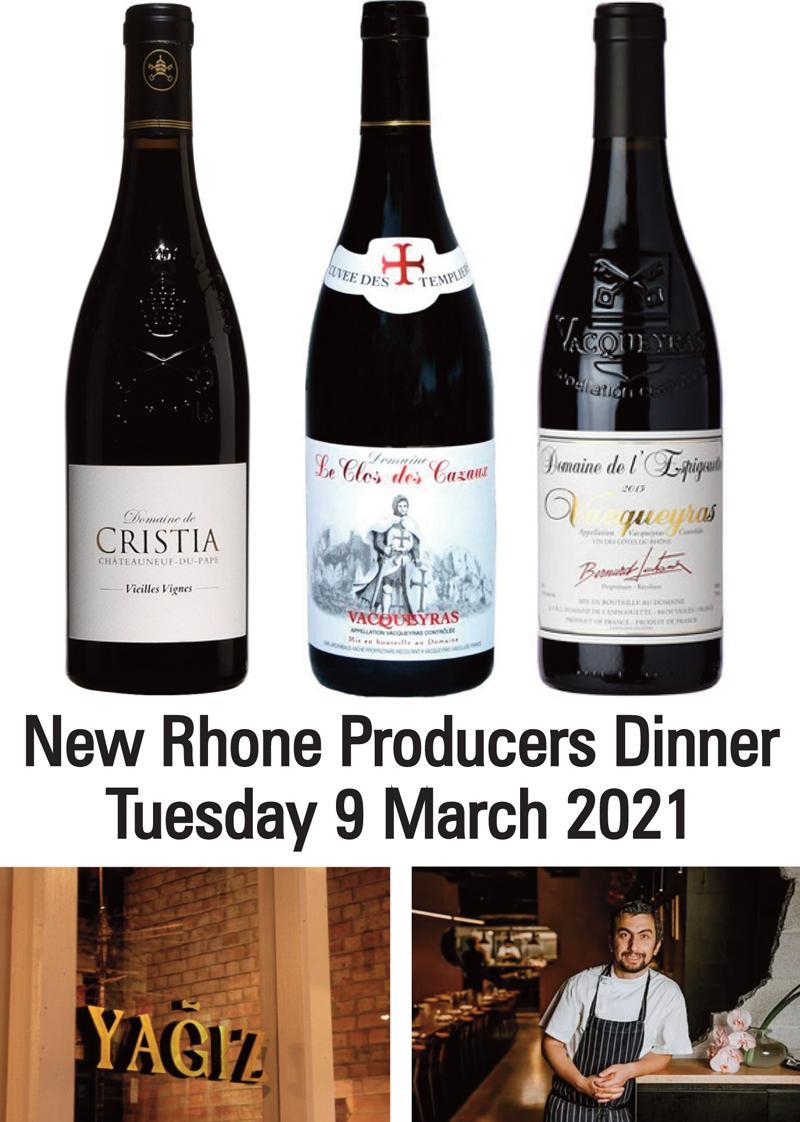 New Rhone Producers Dinner header
