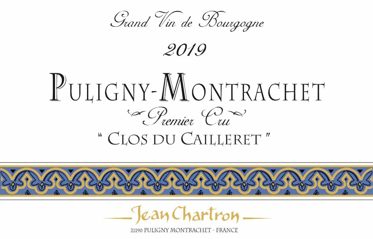 Chartron Cailleret 2019 label