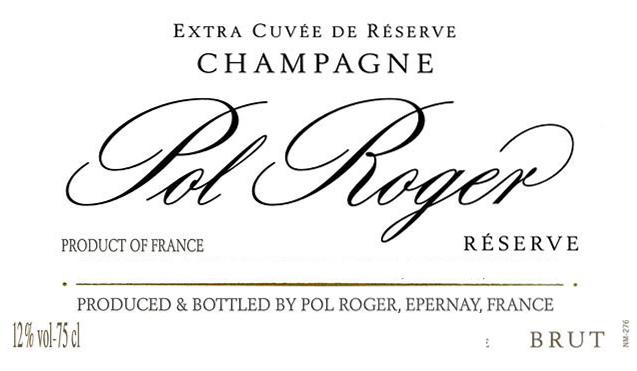 Pol Roger Brut Reserve label hi
