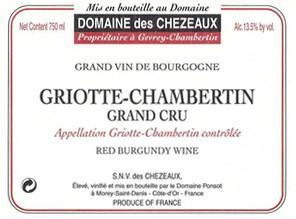 Domaine des Chezeaux Griotte label