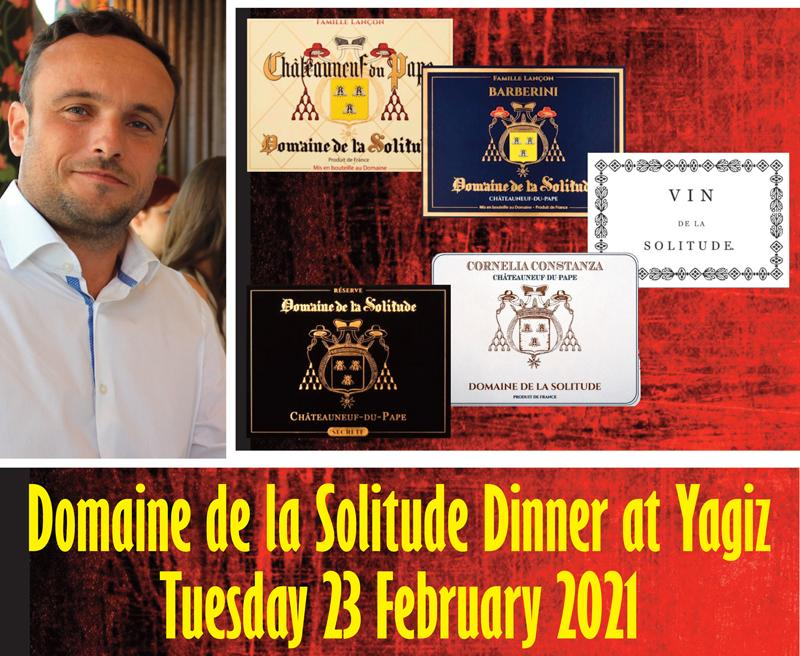 Solitude Yagiz Dinner header