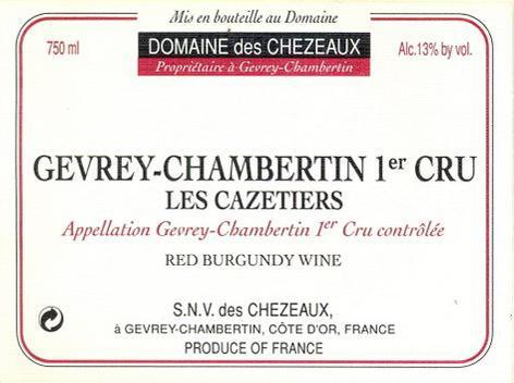 Chezeaux Berthaut Cazetiers label