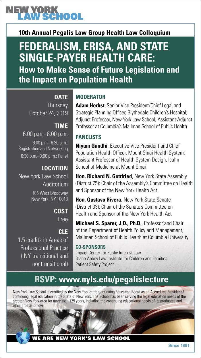 Pegalis Law Group LLC Annual Health Law Colloquium