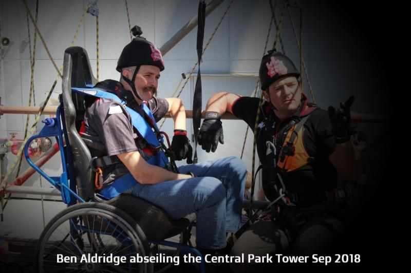 Ben Aldridge abseiling the Central Park Tower Sep 2018