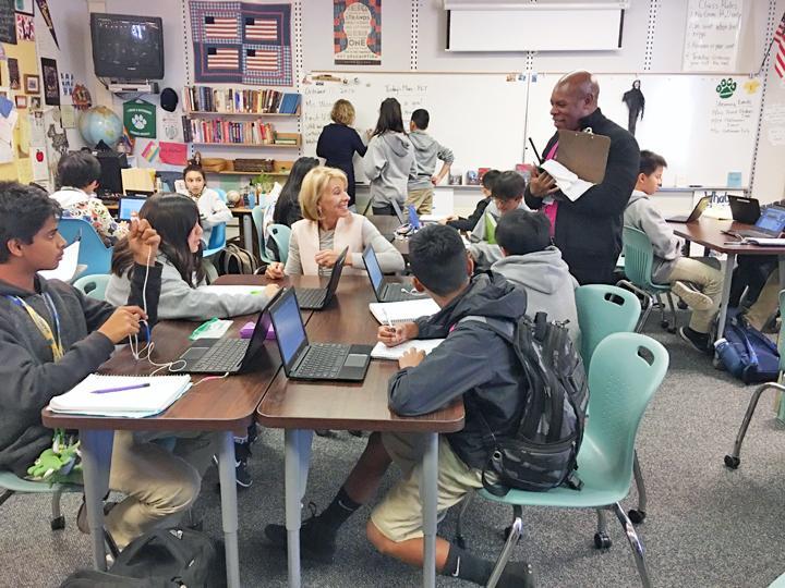 Betsy DeVos visits MUSD classroom