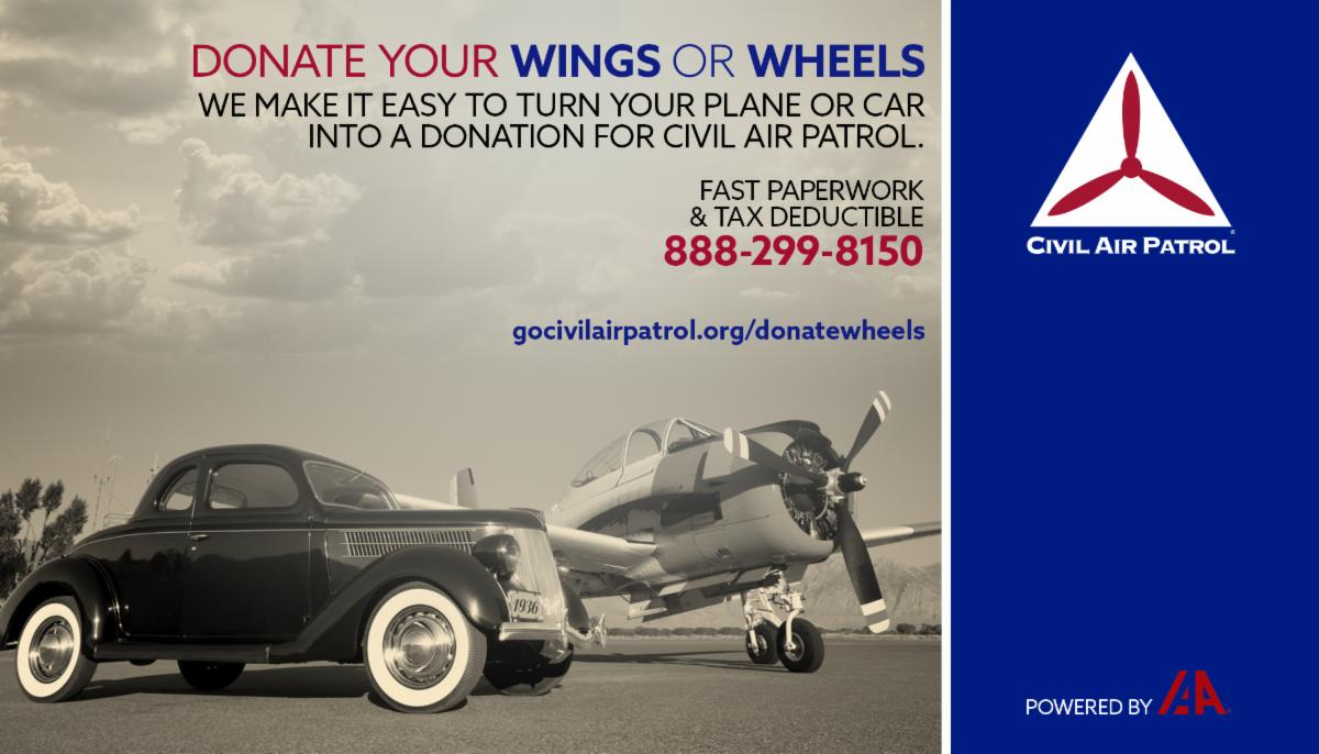 Donate Wheels and Wings 888-299-8150