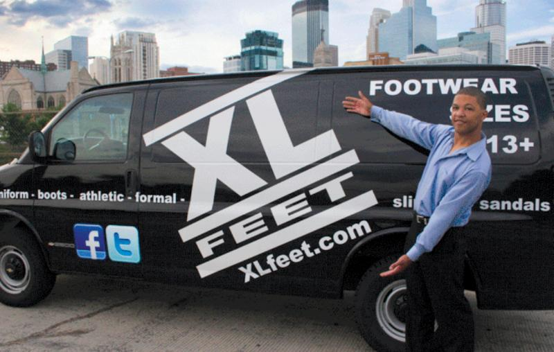 Adrian Coulter, owner of XLfeet.com