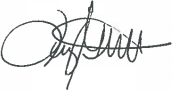 Tracey's signature