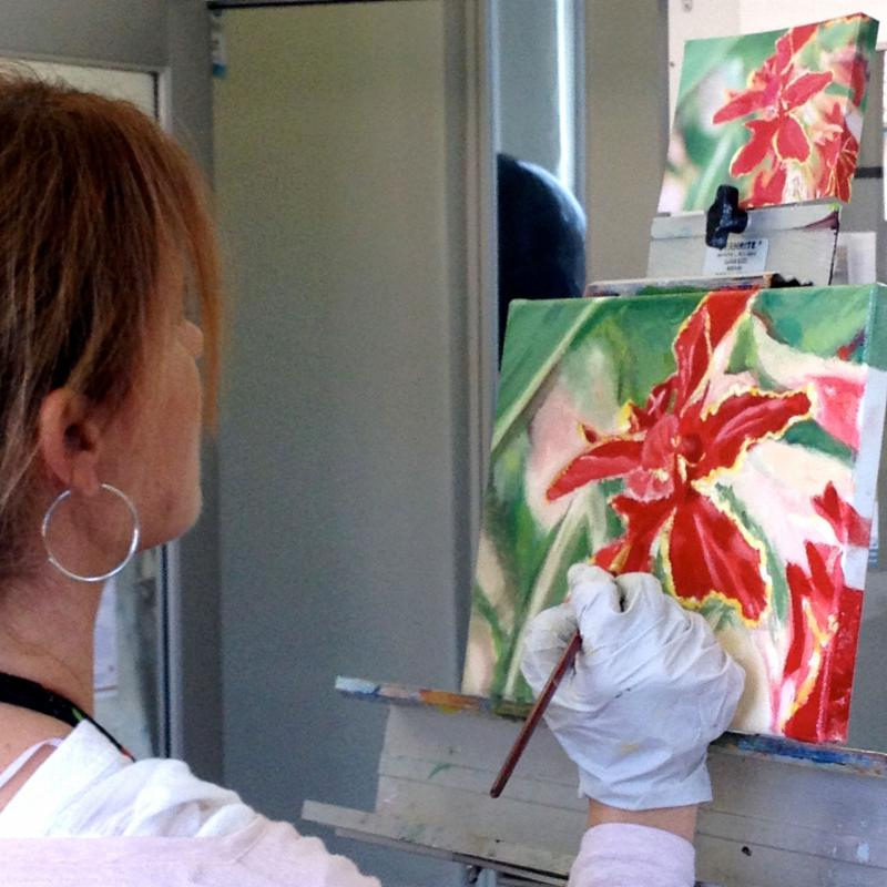 Claudia Paints Oils