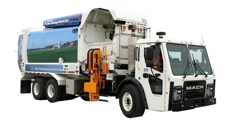 Bluewater Recycling Association Truck