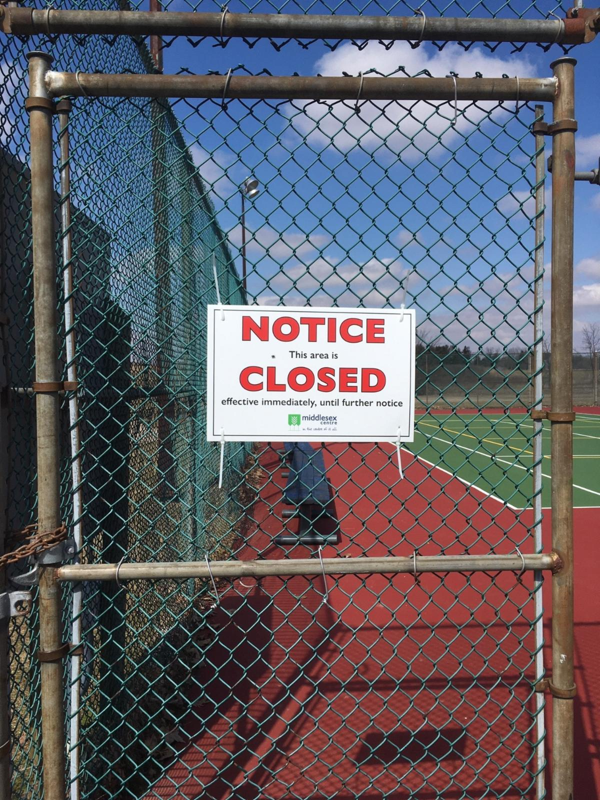 Closed Courts Sign