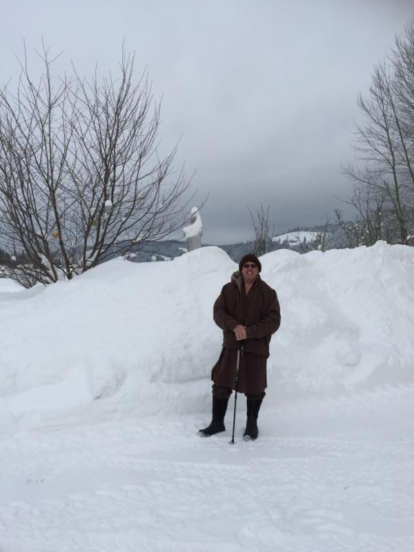 Thay Kozen in snow