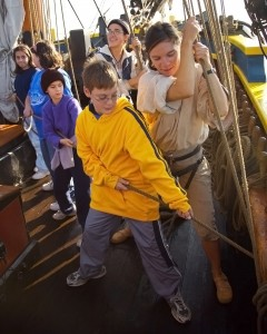 Kids aboard tallships