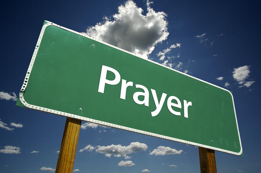 Photo of prayer sign