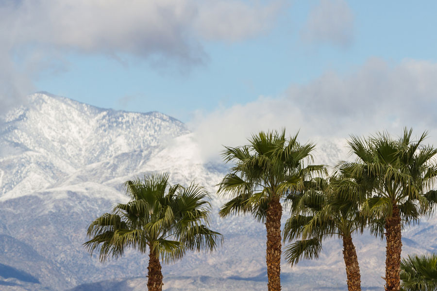Photo of snow-covered mountians