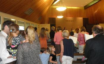 Photo of church service
